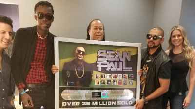 Sean Paul Awarded For Selling 26 Million Records In The US