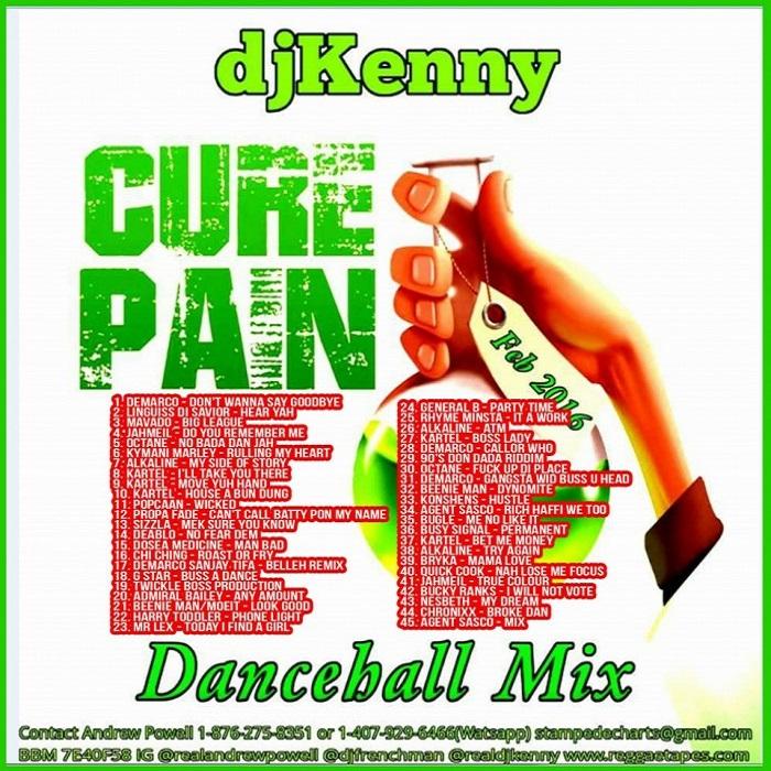 Cure Pain (Dancehall Mixtape 2016) - DjStefanoMusic com