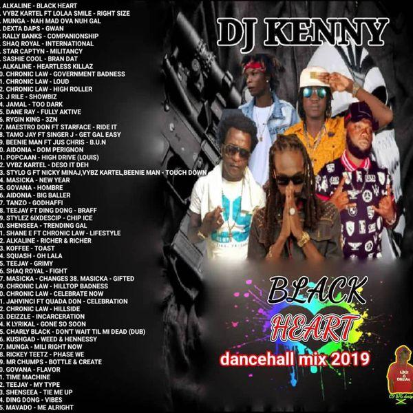 Black Heart Dancehall Mix Jan 2019 - DjStefanoMusic com