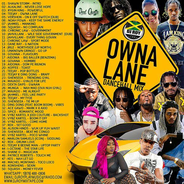 Dj Roy - Owna Lane Bashment Dancehall Mix 2019 - DjStefanoMusic com